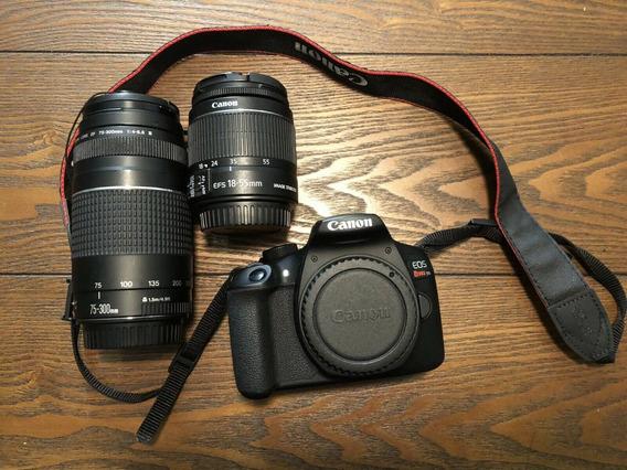 Câmera Canon T6 Rebel 18mpx C/lentes Estado De Nova Urgente