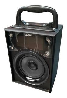* Mini Parlante Portatil Mow! Mws145 Radio Fm Luces En Cuota