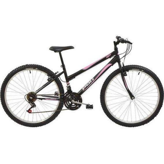 Bicicleta Polimet Mtb Aro 26 Feminina Preta