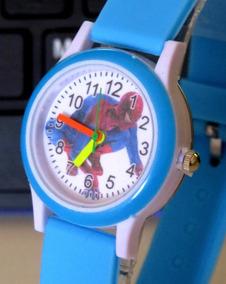 Relógio Do Homem Aranha Azul Bebe Analógico Infantil C306