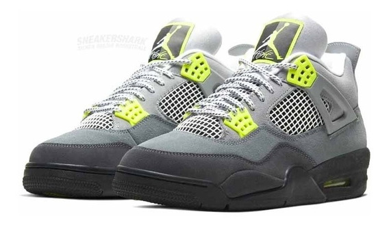 Air Jordan 4 Retro Se Neon Cool Grey Envio Inmediato