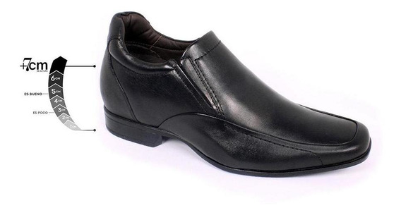 Zapato Formal Tabaco Negro Max Denegri +7cms De Altura -20%