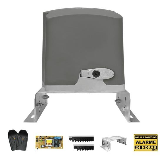 Kit Motor De Portão Eletrônico Dz Ppa 1/4 Rápido + Suporte