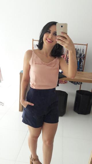 Conjunto Blusa Feminina Alcinha Short Feminino Lancamento