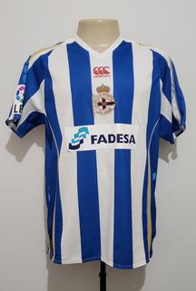 Camisa Futebol La Coruña Espanha 2007 Home Canterbury Tam G