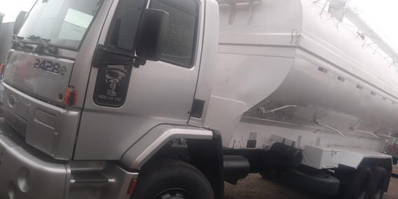 Ford Cargo 2428 Ano 2009 Com Silo Graneleiro De Raçao Triel