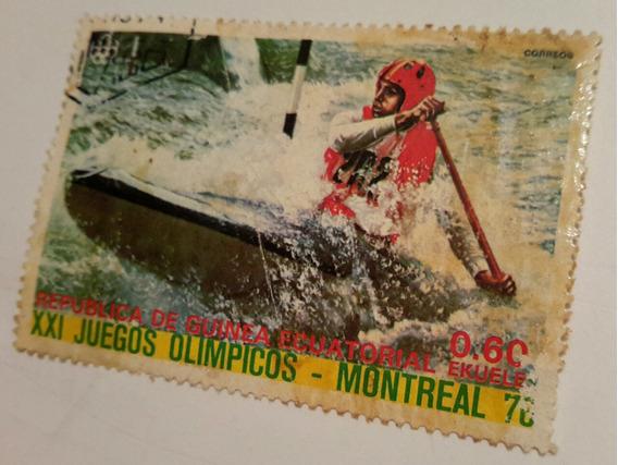 Estampilla De Los Juegos Olimpicos De Montreal