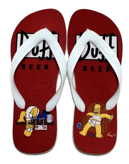 Chinelo Havaianas Personalizado Homer Simpsons