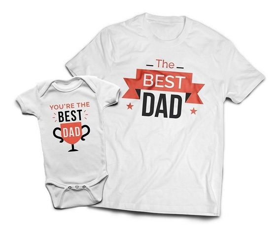 Kit Tal Pai Tal Filho(a) | Camiseta + Body | The Best Dad