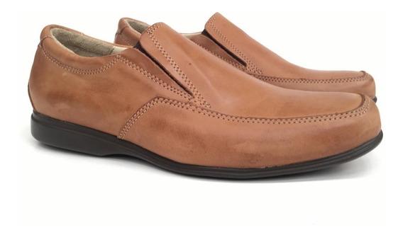 Zapatos Casual Vestir Cuero Cordón Elástico Hombre