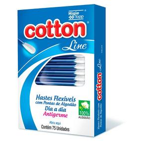 10 Caixas De Hastes Flexíveis Com 75 Astes Cada Cotton Line