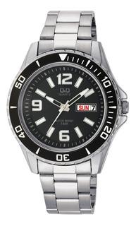 Reloj Hombre Q&q A172j Analogo Acero Calendario Wr50m