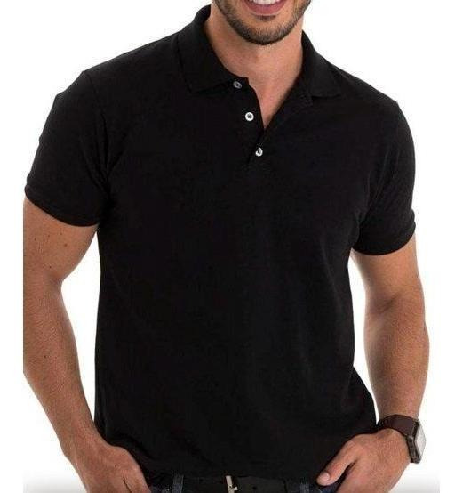 Camisa Gola Polo Camiseta Masculino Lisas Uniforme Kit Com 5
