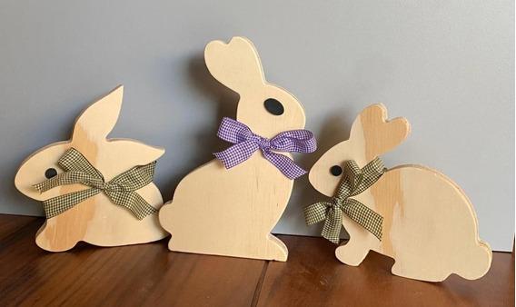 Kit Conejos Decorativos Casa Hogar Recamara