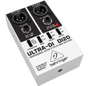 Di20 Direct Box 2 Canais Ativo Behringer Original Lc Audio