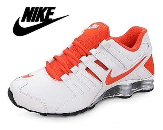 Tênis Nike Shox Current Branco/prata/laranj Original Tam.40