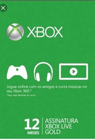 Xbox Live Gold 12 Meses Envio Imediato X One E 360