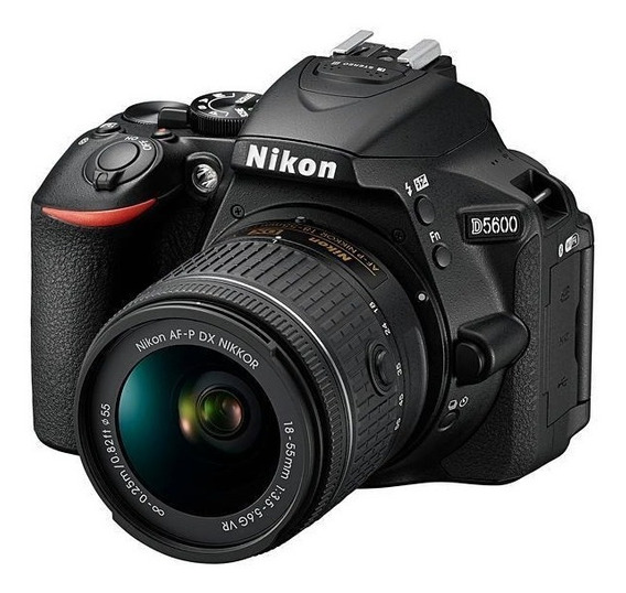 Câmera Nikon D5600 24.2mp Bluetooth/wi Fi/nfc + Lente Af-p