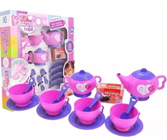 Jogo De Cha Infantil Kit Cozinha Legal Brinquedo P/ Meninas