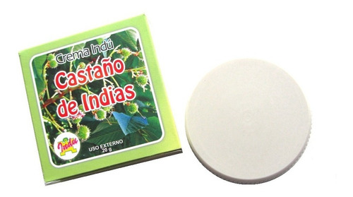 Crema Castaño De Indias Presentacion X 20 Gramos + Envio