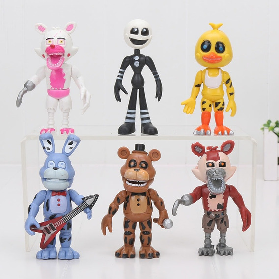 Kit 6 Bonecos Five Night Freddy Game Fnaf Jogos Action Ação