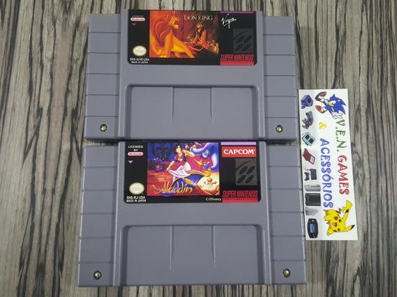 Aladdin + Rei Leão P/ Super Nintendo + Garantia!!!!!