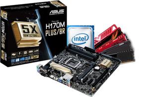 Kit Intel Pentium G4560 Asus H170m Plus 8gb Ddr4 2400mhz Nfe