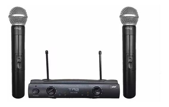Microfone Duplo Sem Fio Tagima De Mão Uhf Tm 559b Tag Sound