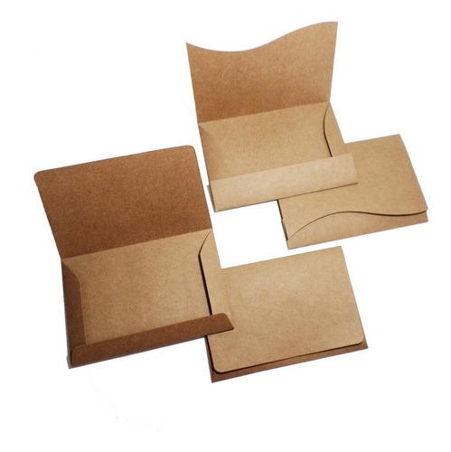 Imagem 1 de 2 de 200 Envelopes (convite 10x15cm) Papel Kraft Rustico