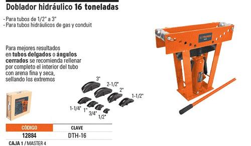 Imagen 1 de 3 de Dobladora De Tubos Hidraulica De 16toneladas 1/2 A 3 Truper
