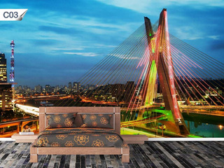 Papel De Parede Adesivo Cidades São Paulo Lavável - C03