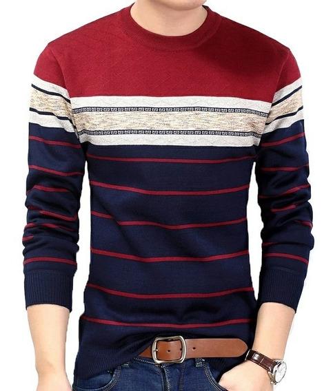 Camisa Suéter Masculino Outono Inverno