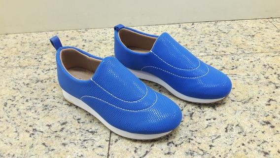 Tênis Usaflex Em Neoprene Azul N° 33 Ref 9103 Feminino