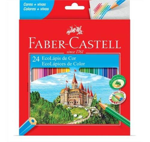 Lápis De Cor Faber-castell 24 Cores Sextavado