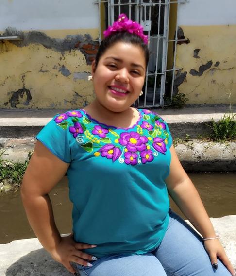 Blusa Típica Bordada Dama Oaxaca Unitala