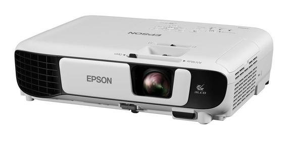 Projetor Epson Powerlite W42 + 3.600 Lumens Lojas Faculdades Igrejas Datashow Resolução Wxga De 1280 × 800 Hd Widescreen