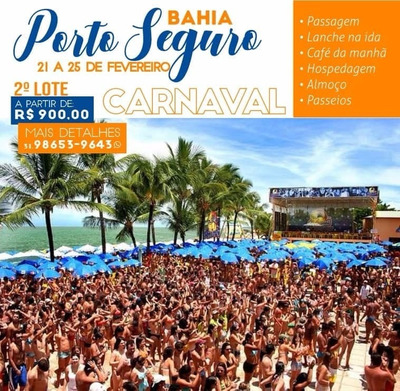 Excursão Carnaval 2020 Porto Seguro