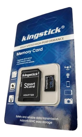 Cartão De Memória 128gb 128 Gb Classe 10 80mb/s + Adaptador