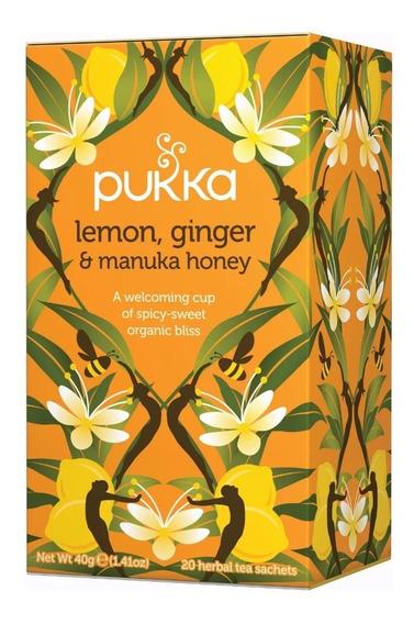 Té Orgánico Sabor Limón,jengibre Y Miel Pukka Herbs A0003230