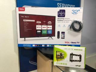 Tv Tcl Smart 32 Pulgadas Con Su Base De Pared Incluida