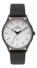 Relógio Technos Masculino Ref: 2035mqq/2b Slim Preto