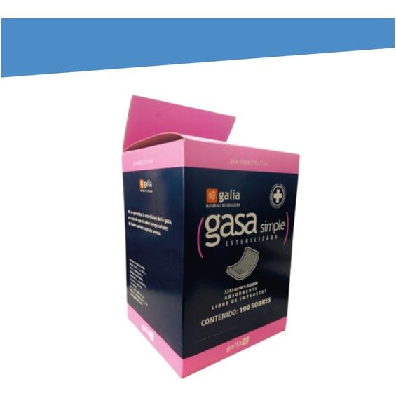 Gasa Estéril 10×10 Cm Caja Con 100 Piezas