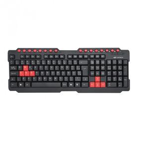 Teclado Gamer C3 Tech Kg-10bk Multimidia Preto E Vermelho