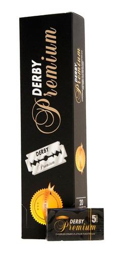 Imagen 1 de 1 de 20 Cajas De Filos Derby Premium Hoja Navaja Afeitar Barbero