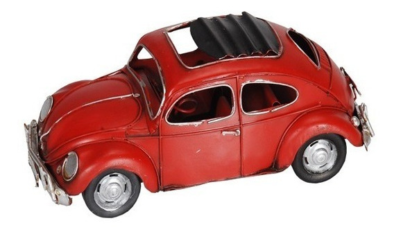 Auto Escarabajo Rojo En Miniatura Coleccionable