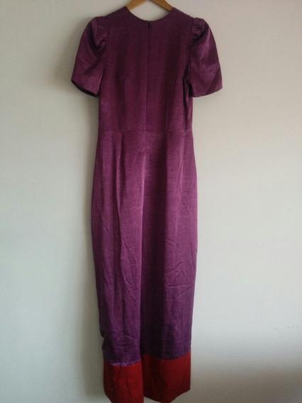Vestido Largo Fiesta Otoño 2018 Violeta Envios