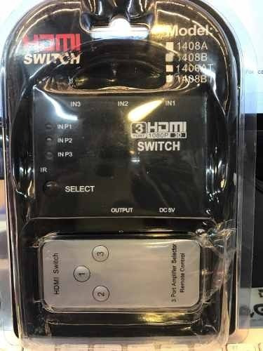 Splitter Switch Hdmi 3 En 1 C/control Remoto