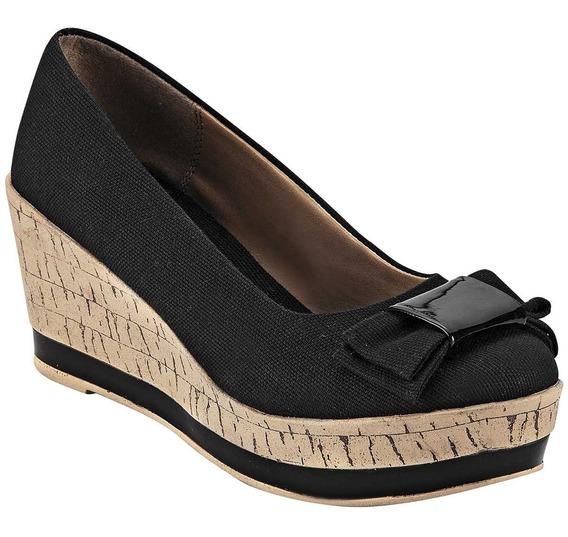 Zapato De Plataforma Para Dama Marca Dash Negro 3452 Dgt