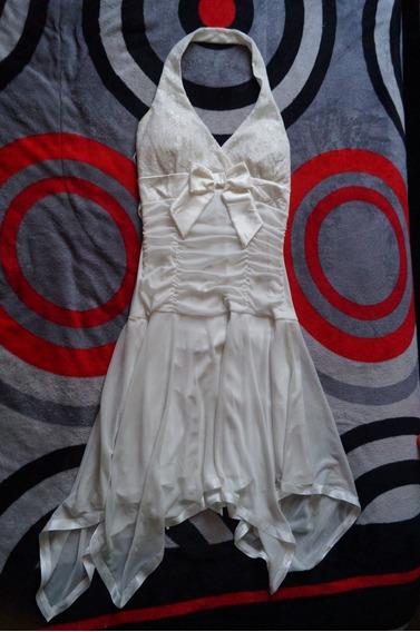 Vestido Blanco Ligero Taboo Contrast Ll - Mediano