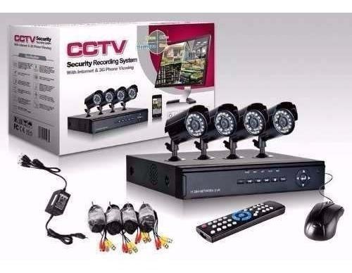 Camara Vigilancia Celular Kit Completo Dvr 4 Camaras Hd